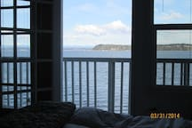 view from the master bedroom bed