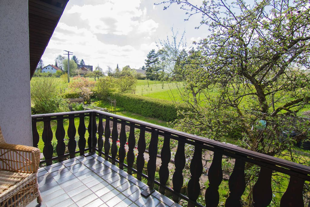 Blick vom Balkon gen Westen