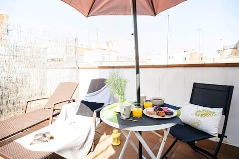 Sunny Private Terrace Penthouse in Gracia