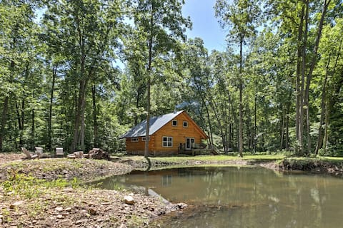 Lyndhurst Log Cabin on Farm w/Pond+Stocked Stream!