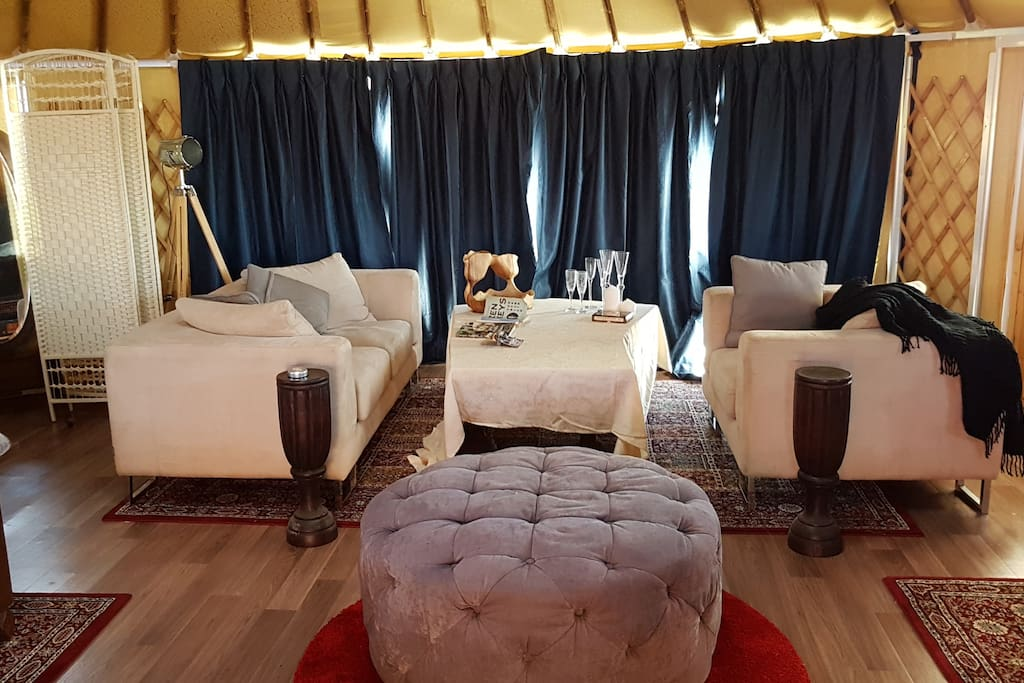 The lounge room in your yurt