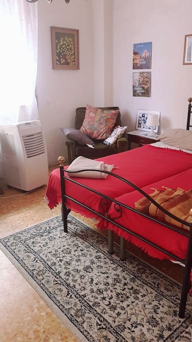 bed and air conditioning