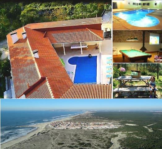 Villa htd Pool,Jacuzzi,Cinema,BBQ;close to beaches