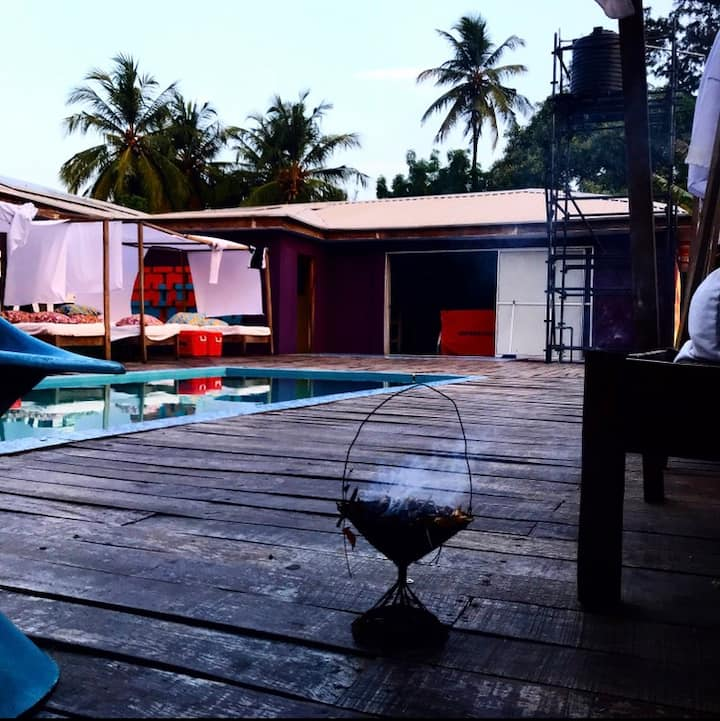 Popbeachclub tarkwa bay secure private villa