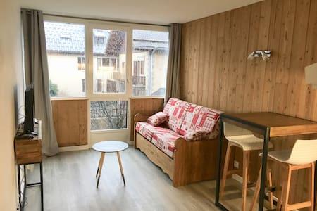 Studio neuf, centre,vue Mont Blanc, wifi 107