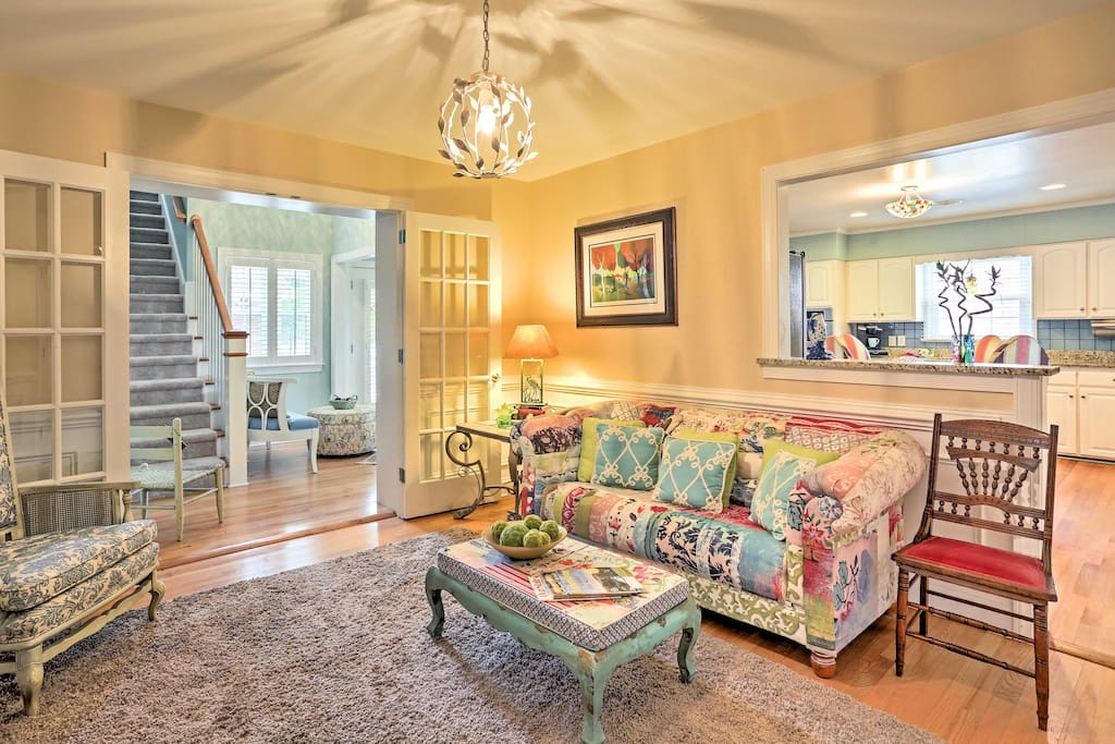 The interior of the home is tastefully decorated and appointed with all the comforts of home.