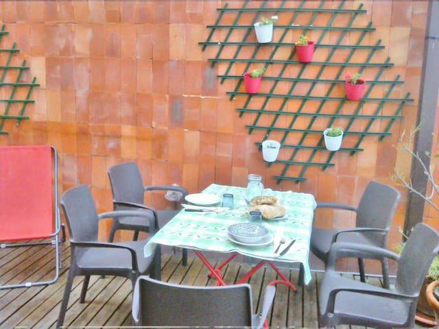 tavolo pranzo nel terrazzo