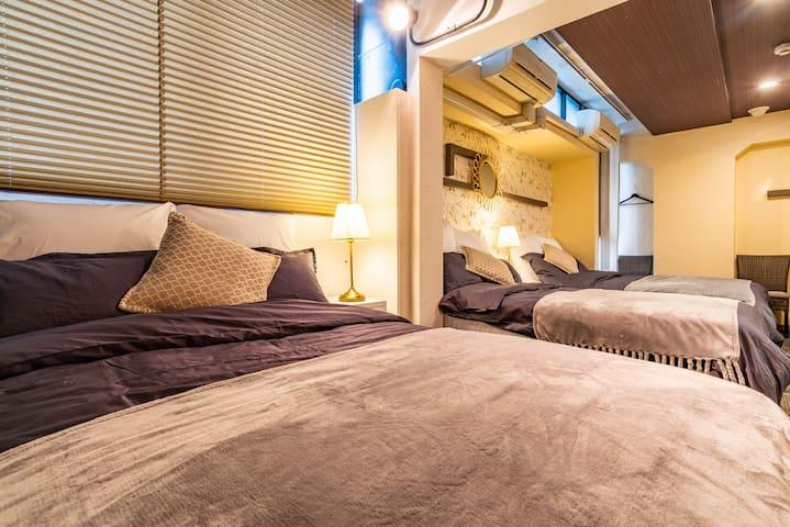 3 min to Shinsaibashi/Le Clos Bijou Suites 3F