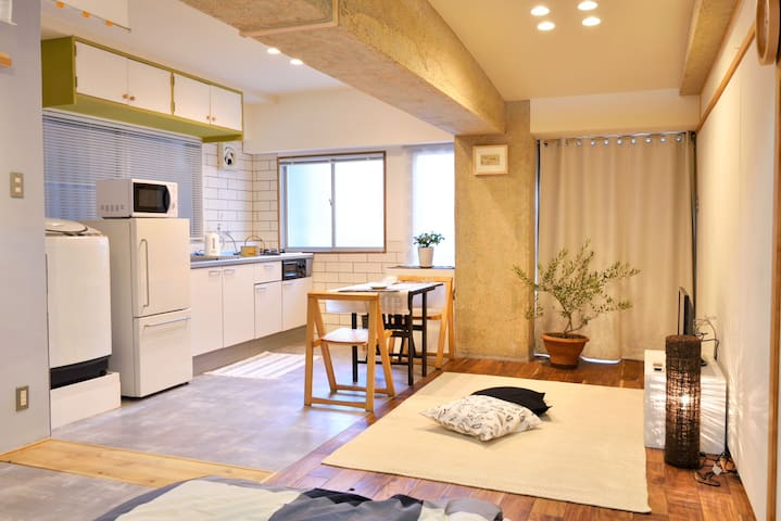 Ct'l Osaka, Namba/Umeda/KIX/Nara/Kobe, easy access - Ueshio,Tennoujiku,  - Appartement