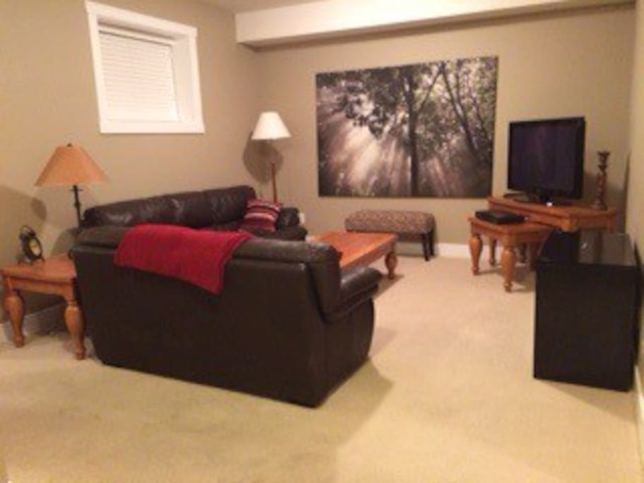 Private living room with flat screen tv, cable and wifi