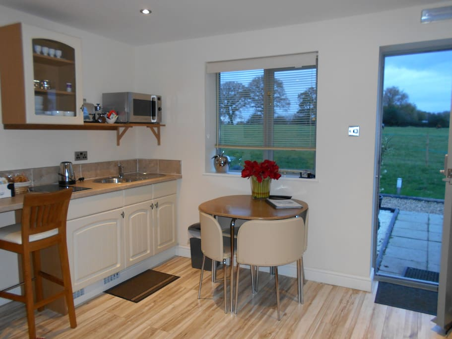 kitchenette over looking paddocks