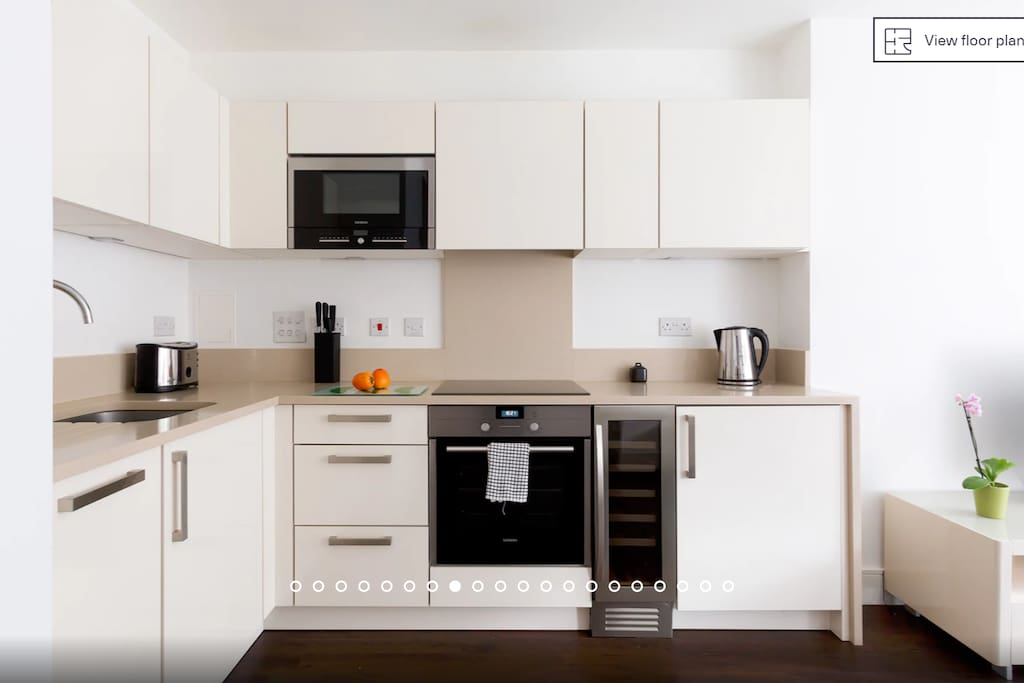 Modern  kitchen with top notch appliances & everything you  need to cook