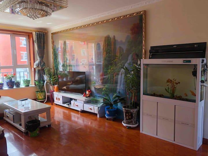 [天然氧吧]阿尔山三室三卫阳光充沛家庭房