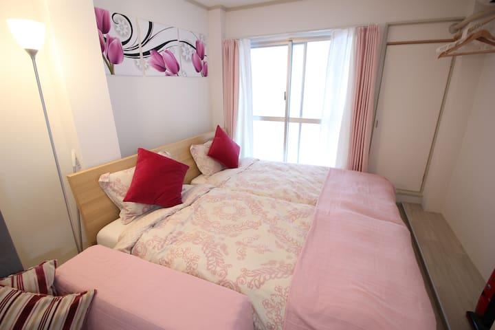 1 min to Namba station Girly room - Naniwa Ward, Osaka - Lägenhet