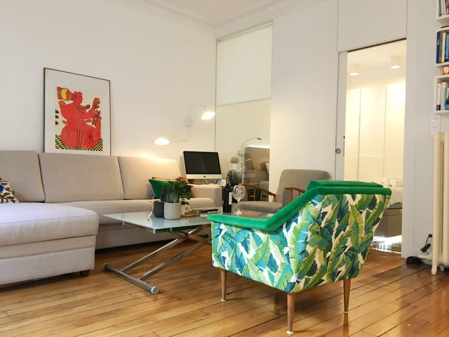 Contemporain 2 piece dans immeuble bourgeois for Hotel contemporain paris