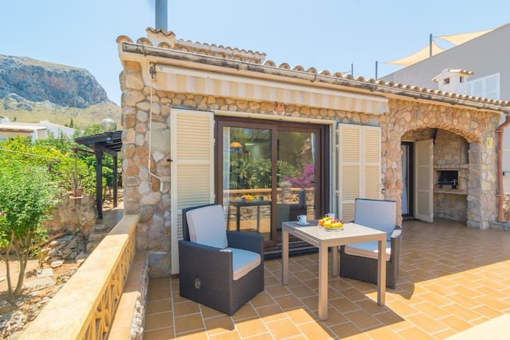 CAN CLAVELL - Chalet with terrace in Colònia de Sant Pere. Free WiFi