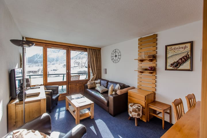 Right beside the slopes, cosy apartment