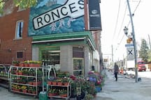 Another great spot close by, Roncesvalles with more restos, shops and vegetable markets.