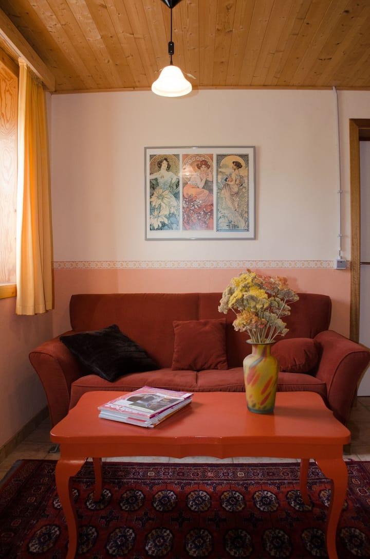 Cozy room  with bathroom at La Petite Source