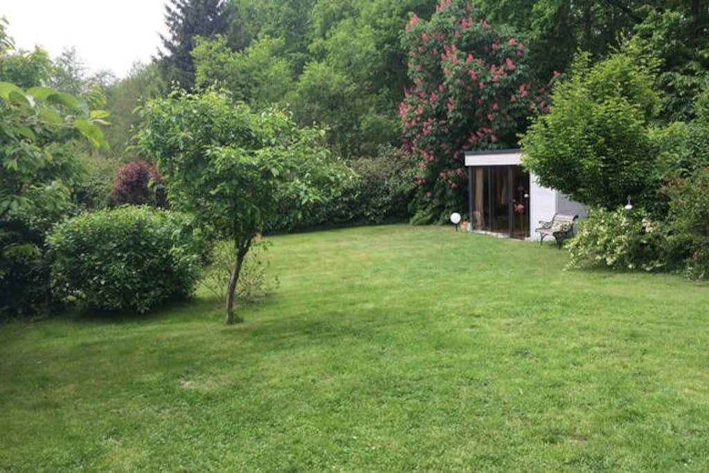 Blick in den schönen Garten