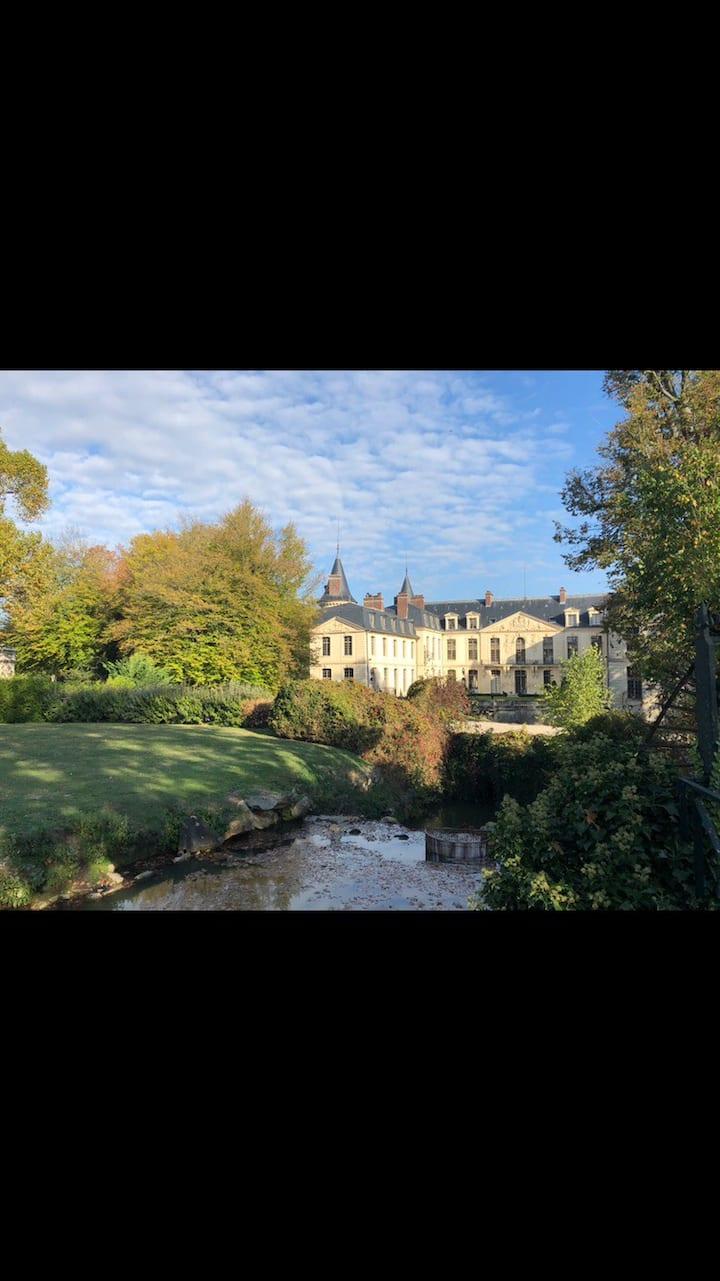 Chambre a louer à Ermenonville face au château