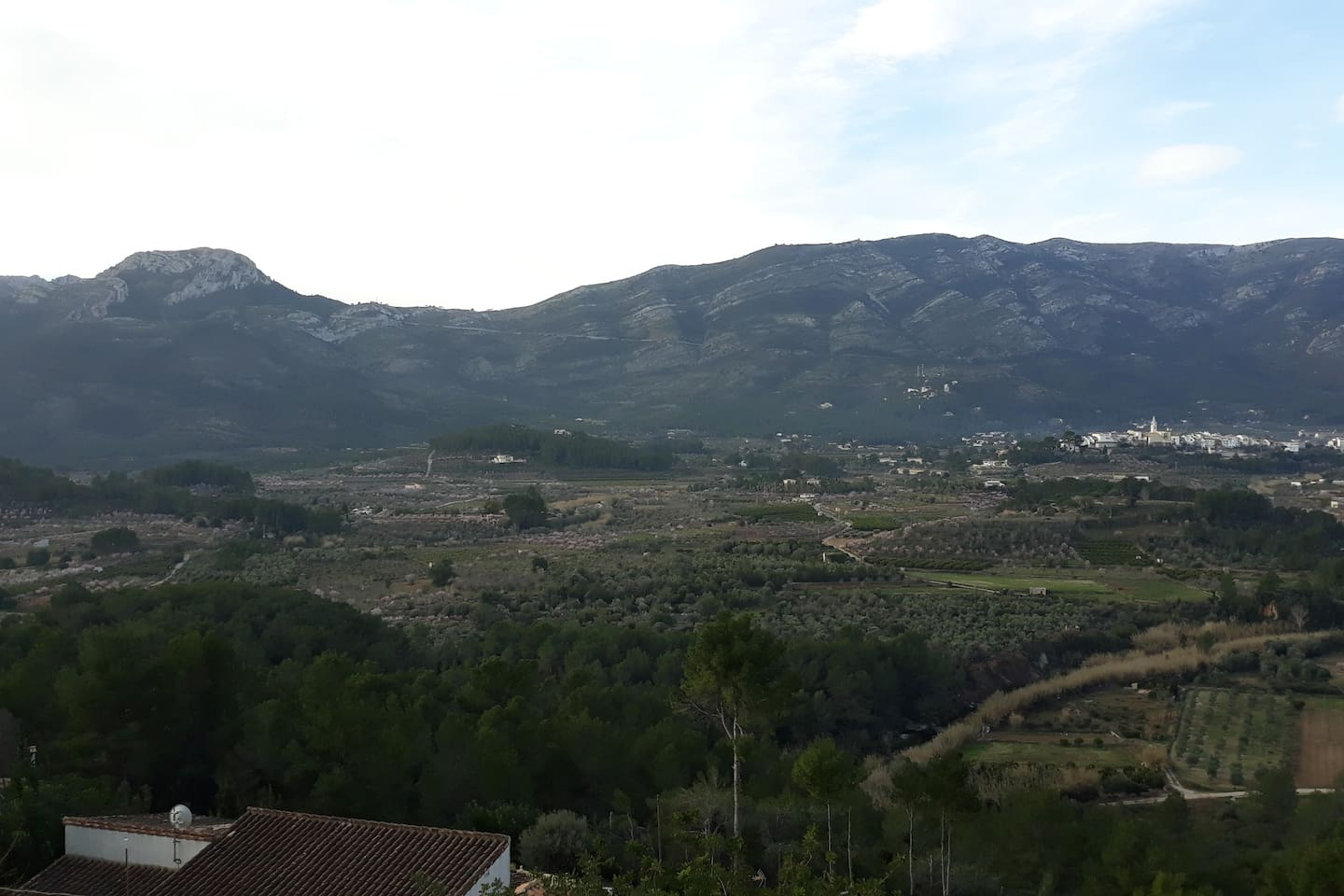The Jalon Valley as seen from the apartment.