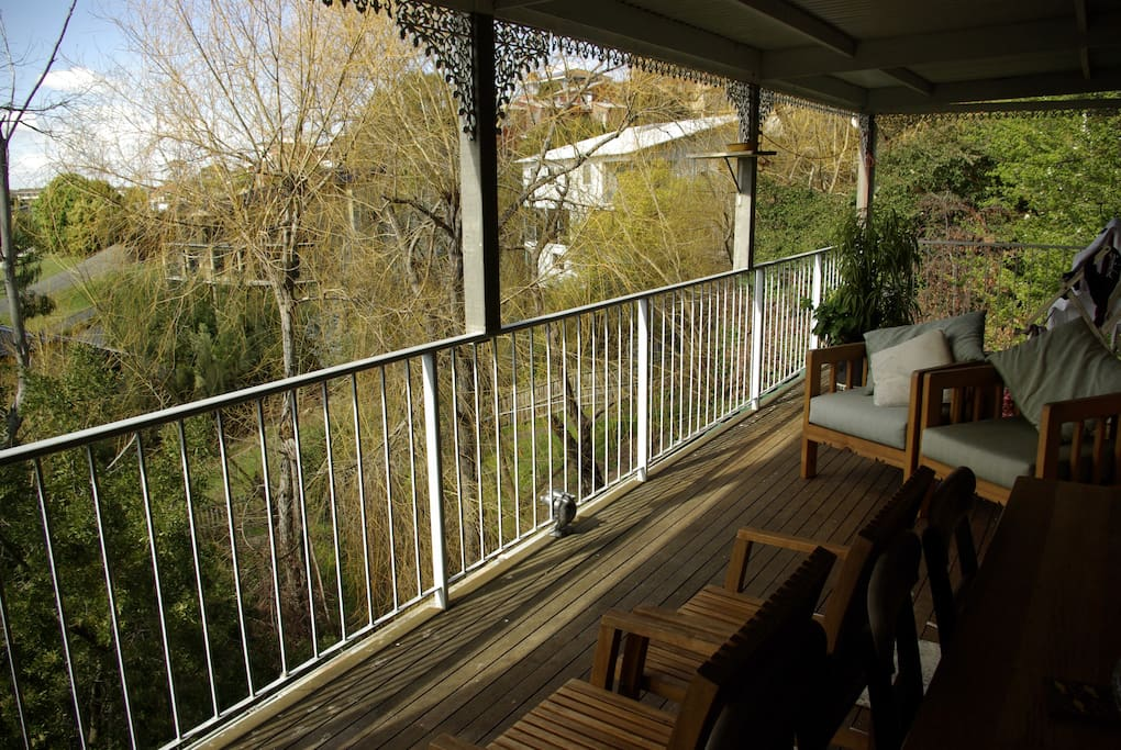 Large deck , including outdoor table and chairs for 6