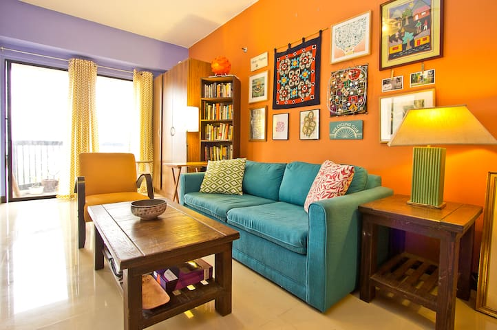 Colorful studio w/ balcony, view - Quezon City