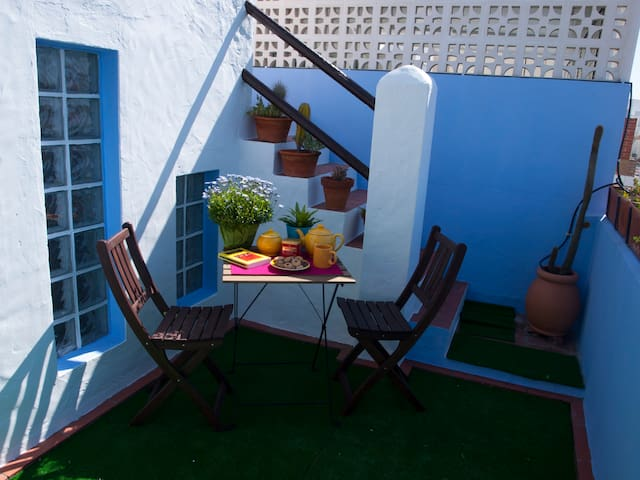LA TERRAZA AZUL. CENTRO PLAYA - Chipiona - Rumah
