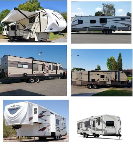Go Camping in Mountains. Trailers Fully Stocked