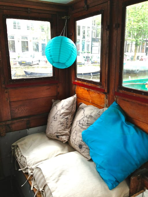 cosy seating in upstairs rudder room