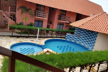 Flat 200 m do mar tranq, vizinho risort Beach park