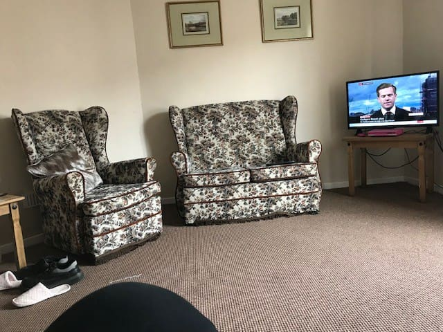 Nice cosy front room with DVD player.  and broadband