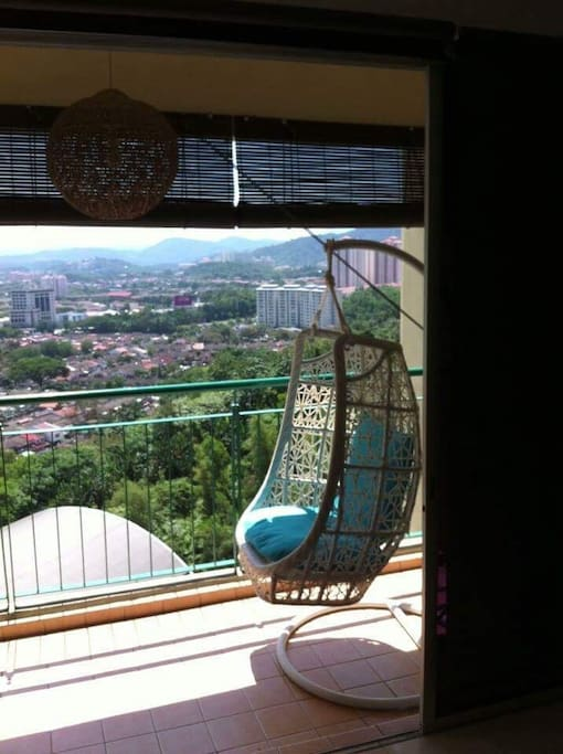 Swing chair at balcony