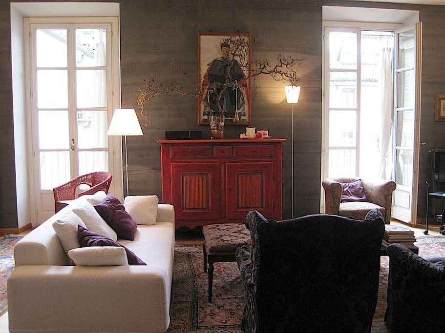 the living room  il soggiorno