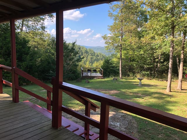 Private with  mountain views from front porch!