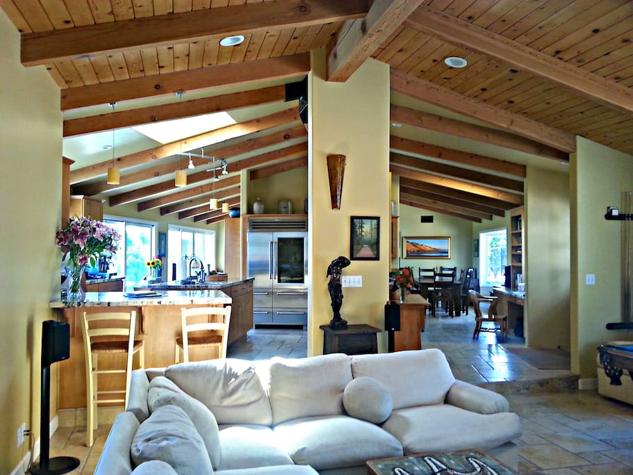 View of open floor plan of home from family room
