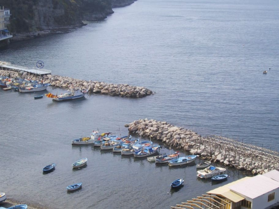 Marina Grande Sorrento view from the apartments