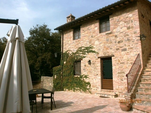 18th-cent. 2-floor cottage with terrace and pool. - Panicale - House