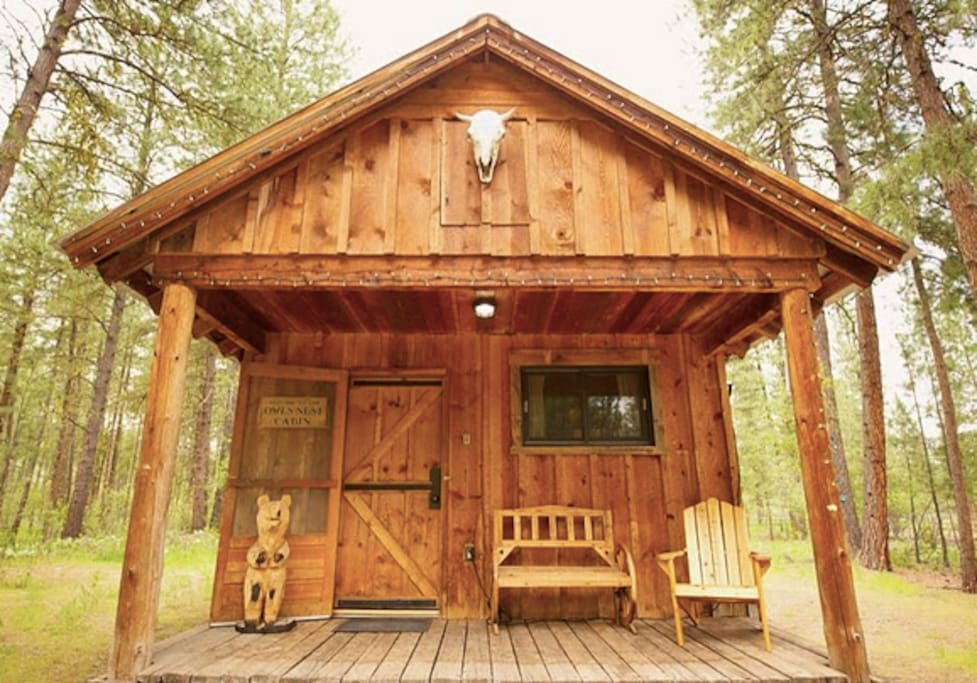 Owl 39 s nest studio cabin cabins for rent in winthrop for Winthrop cabin rentals