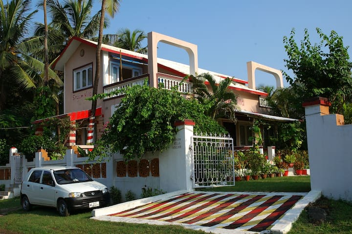 Shyam Villa, on  Nargol beach
