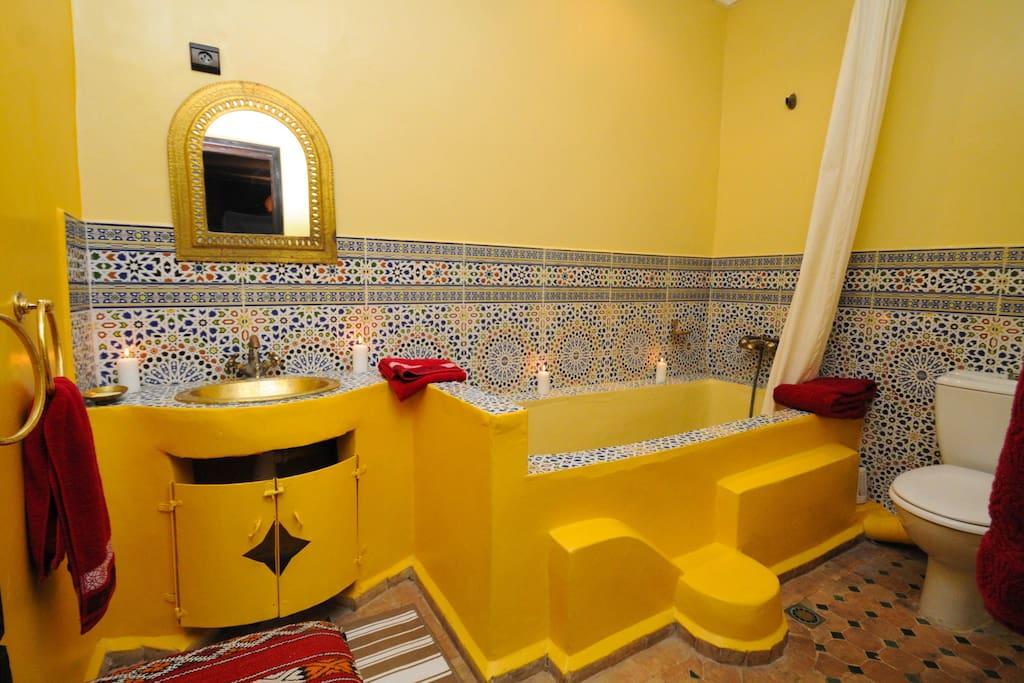 Salle de bain Chambre l'Arganier