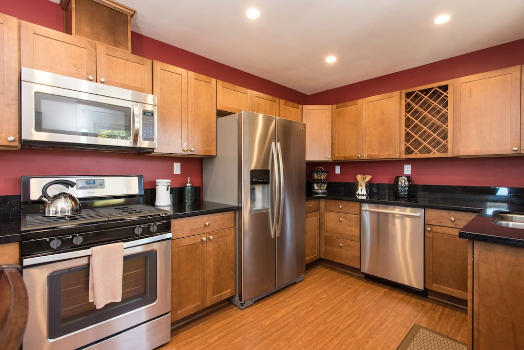 Well appointed kitchen with updated appliances