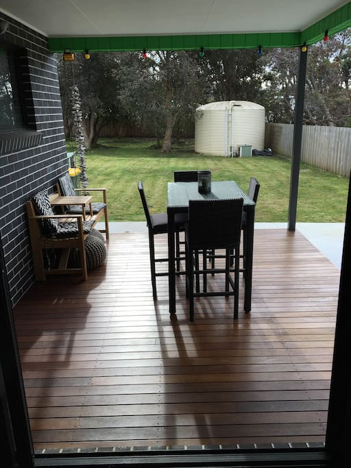 deck and secure yard
