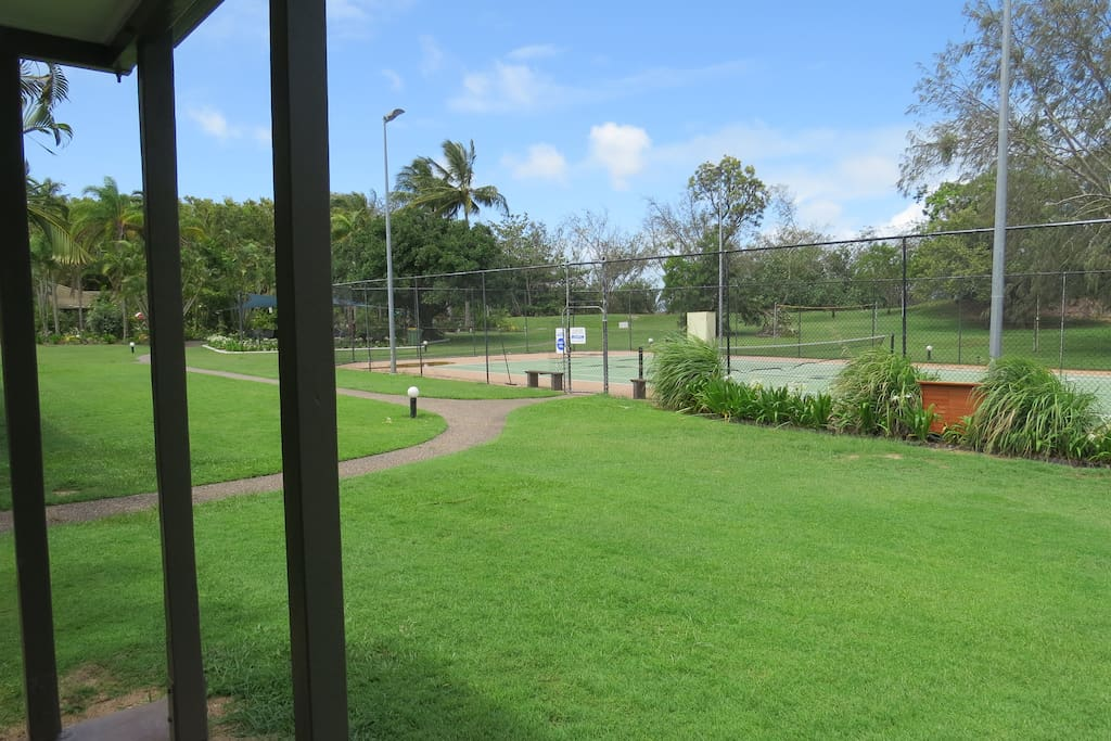 View towards Tennis Court from the patio