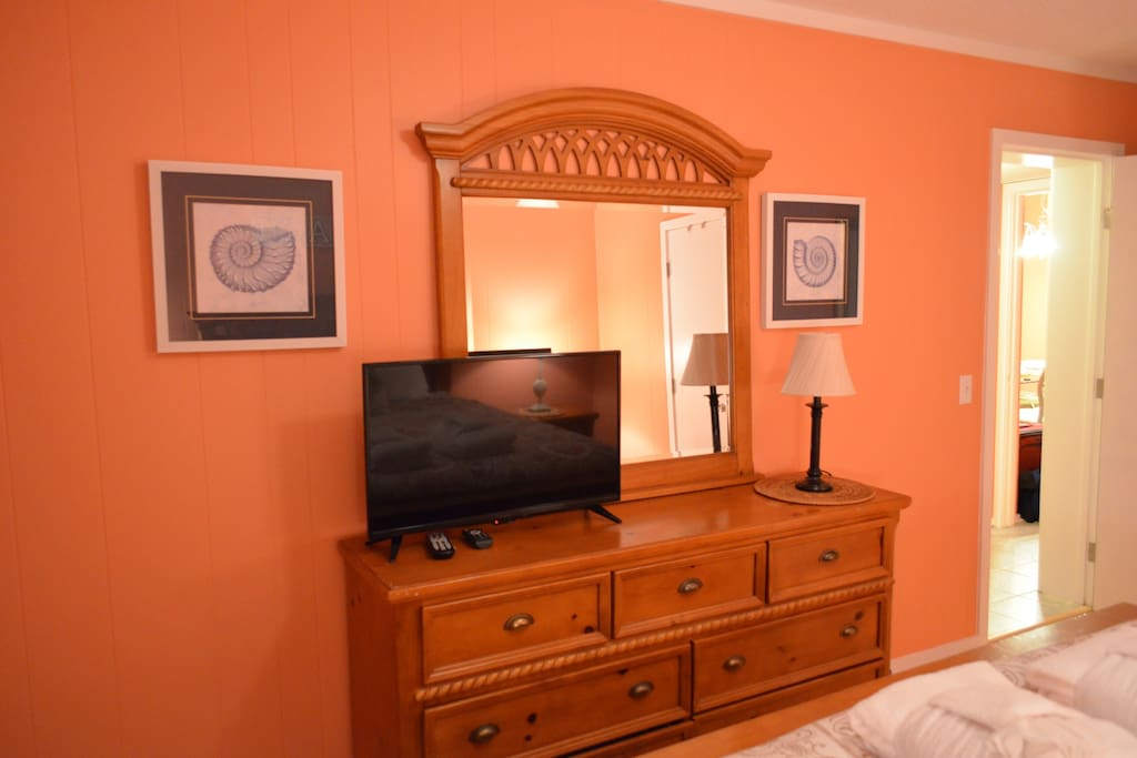 Master Bedroom dresser and TV