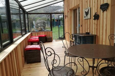 Maison spacieuse soignée jardin Lac Chambon