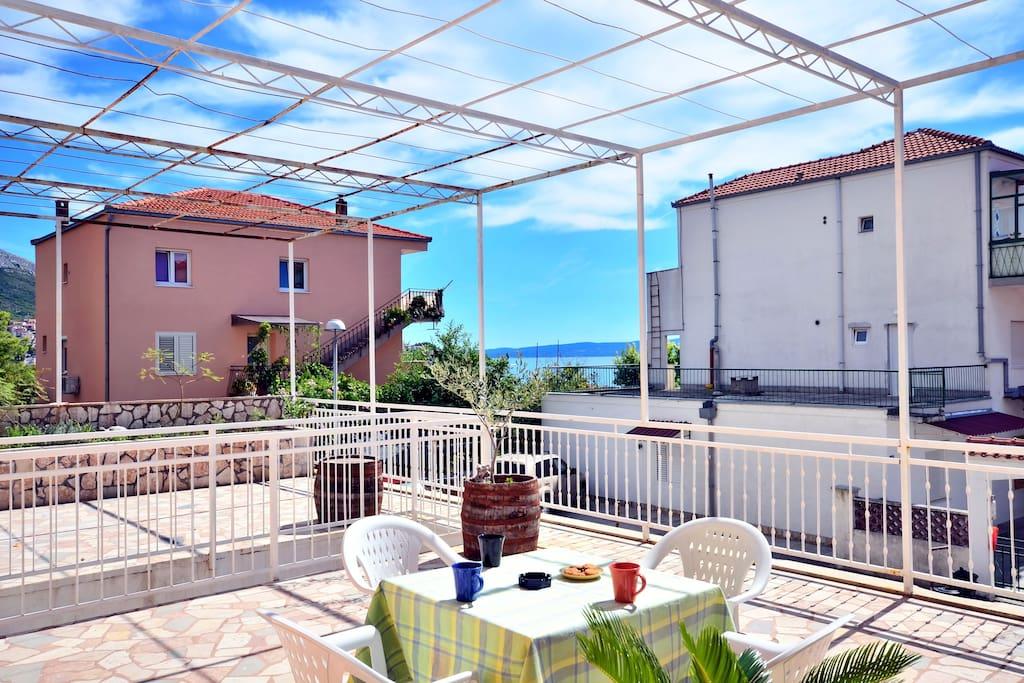Big sunny terrace...