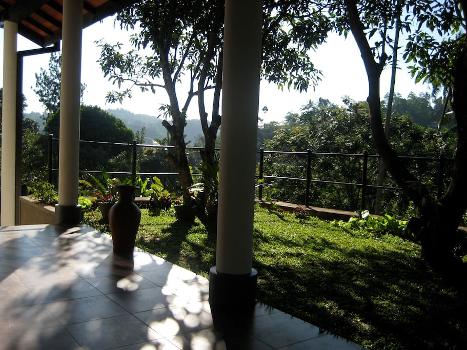 View from veranda at main entrance looking out over Kandy