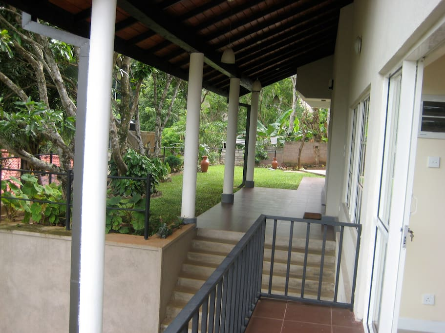 view from balcony 1 looking at veranda and entrance